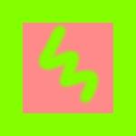 黄緑とピンク(アルファチャンネル有り)