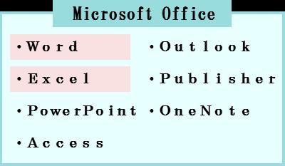 マイクロソフトのオフィスソフト一覧